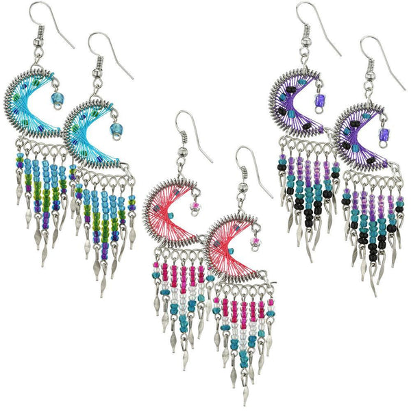 Wish Upon A Star Peruvian Thread Earrings