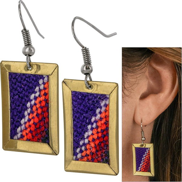 Woven Aguayo Rainbow Earrings