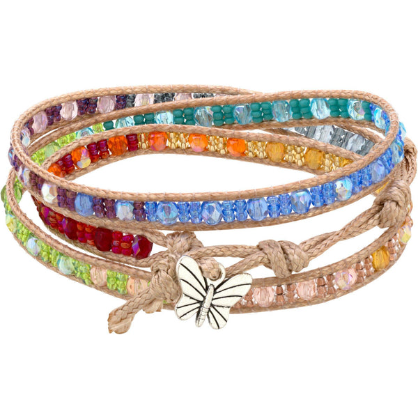 Wrapped In Love Rainbow Bracelet