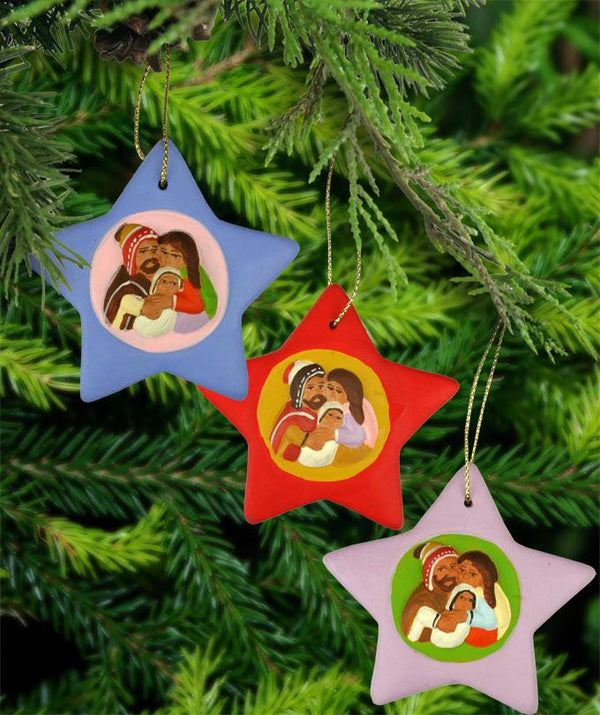 Yenny's Andean Holy Family Ornaments - Set Of 3