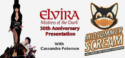 "Midsummer Scream To Feature ""Elvira, Mistress of the Dark"" 30th Anniversary Presentation with Cassandra Peterson"