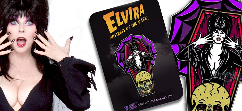 Limited Edition Collectible Elvira Pin from Cavitycolors!