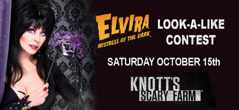 Elvira Look-A-Like Contest At Knott's Scary Farm!