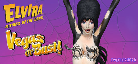 "New ""Vegas or Bust"" Elvira Maquette Coming from Tweeterhead & Sideshow Collectibles"