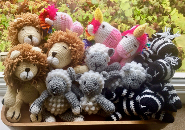 Hand crocheted toys