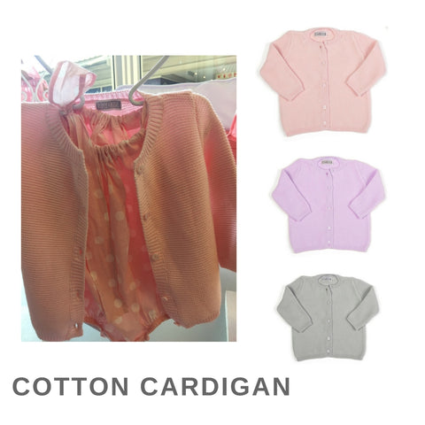 Cotton Cardigan Garter Stitch (8 colours available)