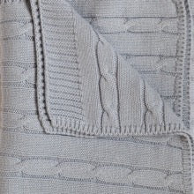 """snuggle me"" Baby Zebra - Cable Knit Baby Blanket"