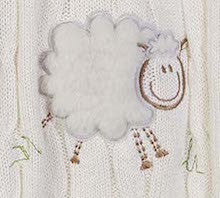 """snuggle-me"" Sheep - Cable Knit Baby Blanket"