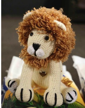 Hand crocheted animals -  lion