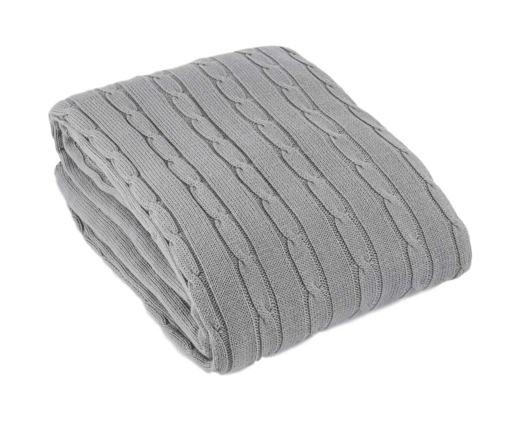 Toddler Cot Or Single Bed Cable Blanket 100x150cm 6