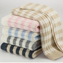 Striped Cable Baby / Toddler Blanket (87x92cm)