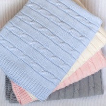 Cable Stroller Baby Blanket 70x90cm