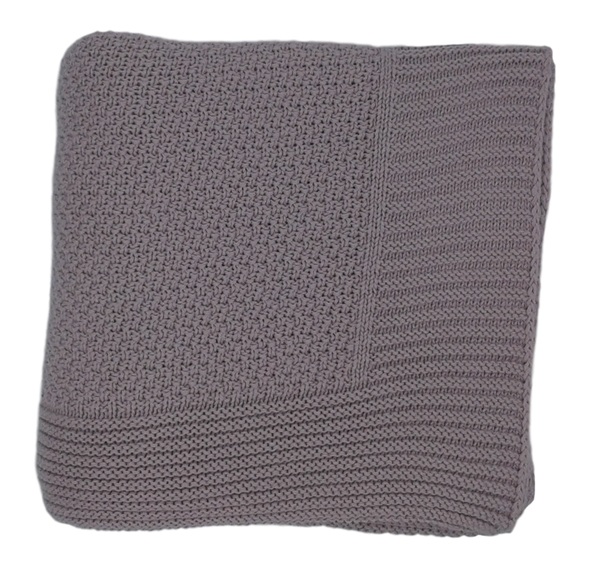 Moss Stitch Throw - Single Size