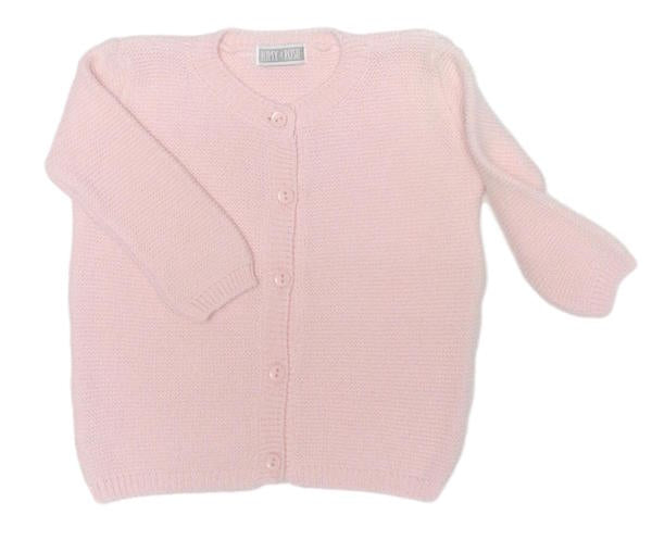 Classic Garter Stitch Cotton Cardigan (8 colours available)