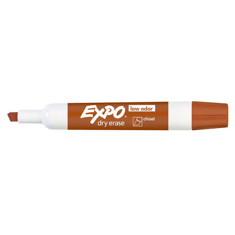 Expo Dry Erase Pumpkin Chisel Tip Marker,  Low Odor  Expo Dry Erase Markers