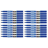 Expo Dry Erase Blue Fine, Low Odor, Ink Indicator Fine Tip Marker Bulk Pack of 24  Expo Dry Erase Markers
