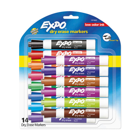 Expo Markers Assorted Colors Pack of 14 Assorted Colors - 1974662  Expo Dry Erase Markers