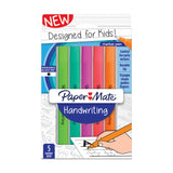 Paper Mate Handwriting Pens For Kids Triangular Shaped, Washable Black Ink, 5 Ct  Paper Mate Handwriting Pens