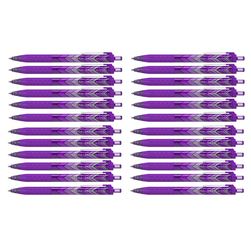 Paper Mate InkJoy 300 RT Purple Ballpoint Pens Retractable Medium Point, Bulk Pack of 24  Paper Mate Ballpoint Pen