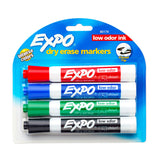 Expo Markers Assorted Colors Pack of 4- Red, Blue, Green and Black  Expo Dry Erase Markers