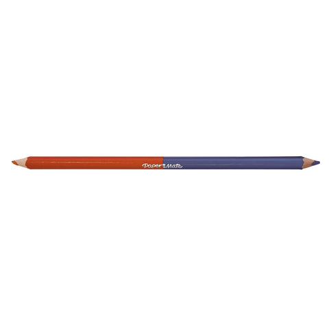 Paper Mate Geranium Red Prussian Blue Colored Pencil Dual Ended