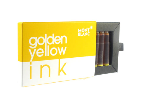 Montblanc Golden Yellow Fountain Pen Ink Cartridges Pack Of 8 - PensAndPencils.Net
