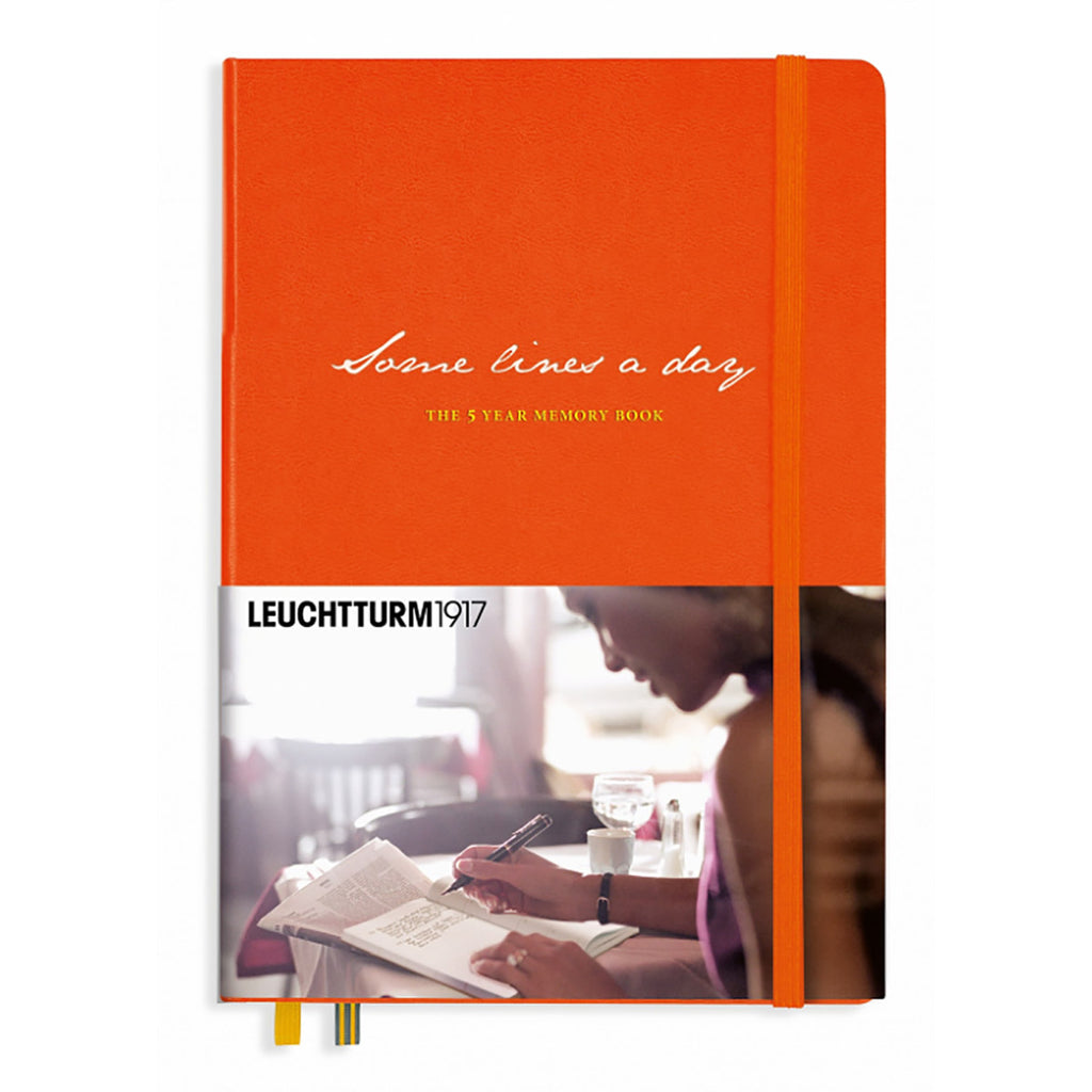 Leuchtturm1917 Some Lines A Day Memory Book Orange  Leuchtturm1917 Notebook