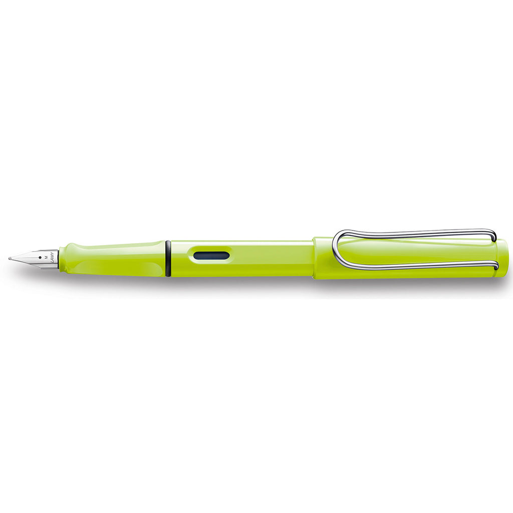 Lamy Safari Neon Lime Fountain Pen Fine Nib - PensAndPencils.Net