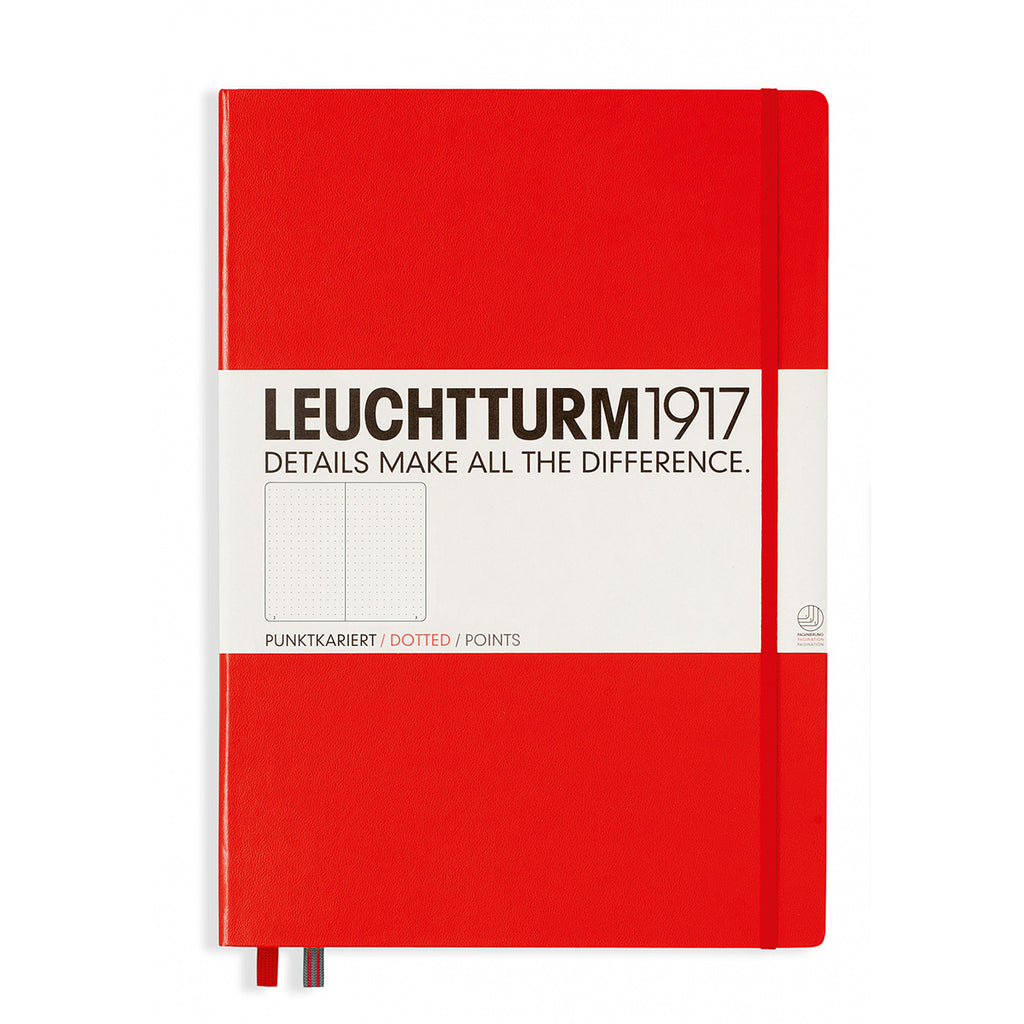 Leuchtturm1917 Dotted Notebook Medium A5 Hardcover Red 313627