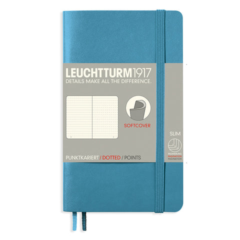 Leuchtturm1917 Softcover A6 Dotted Pocket Notebook Nordic Blue 3.5 x 6 Inches  Leuchtturm1917 Notebook