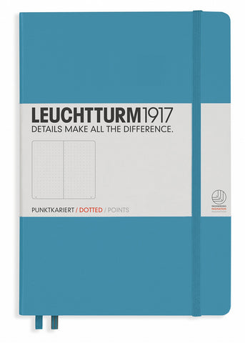 Leuchtturm1917 Medium Size Hardcover A5 Notebook - Dotted Pages - Nordic Blue  Leuchtturm1917 Notebook