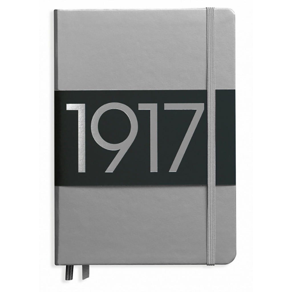 Leuchtturm 1917 Dotted Notebook A5 Medium Silver 100 Year Anniversary Edition Free Shipping  Leuchtturm1917 Notebook