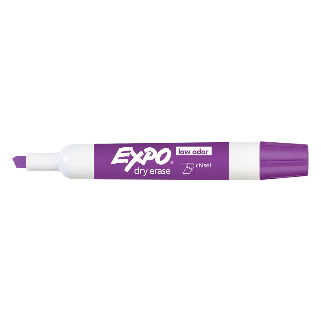 Expo Dry Erase Amethyst Chisel Tip Marker,  Low Odor  Expo Dry Erase Markers