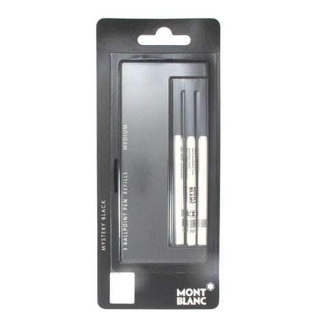 Montblanc Ballpoint Refills Black Medium Pack of 3 - PensAndPencils.Net