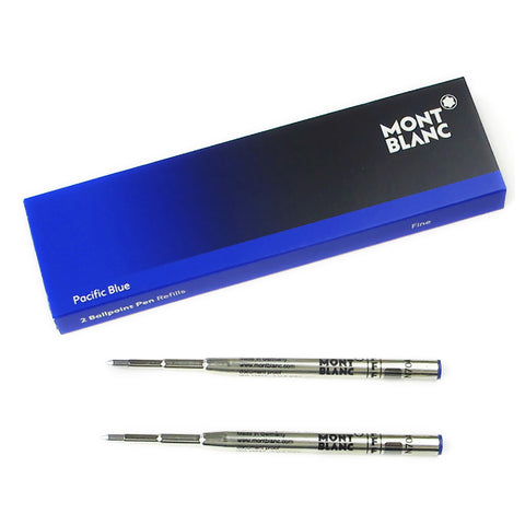 Montblanc Pacific Blue Ballpoint Refill Fine Pack of 2  Montblanc Ballpoint Refills