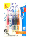 Papermate Mini Fountain Pens Pack of 4 - Pink, Orange, Blue and Green 1854255-514 - PensAndPencils.Net