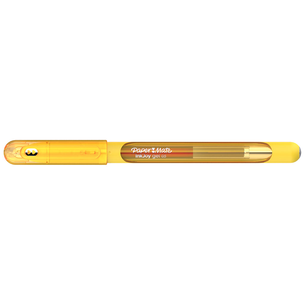 Paper Mate Inkjoy Gel Yellow Fine Point 0.5 mm Stick Capped Gel Pen  Paper Mate Gel Ink Pens