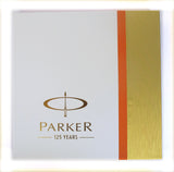 Parker IM Premium Matte Black CT Fountain Pen Fine + Parker 125 Years Notepad Gift Set