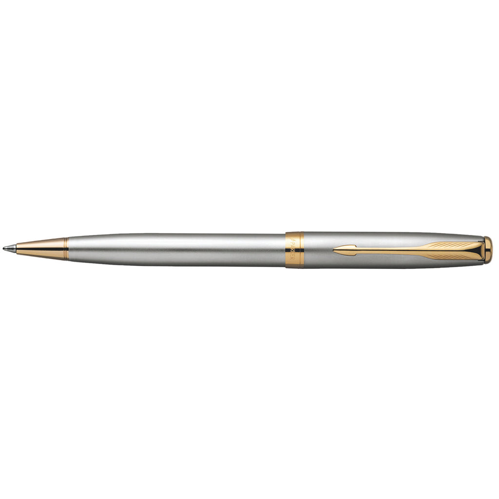 Parker Sonnet Stainless Steel Gold Trim Ballpoint Pen 2007