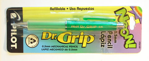 Pilot Dr. Grip Pencil 0.5mm Neon Gamma Green Barrel - PensAndPencils.Net
