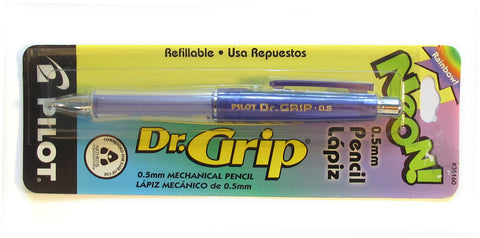 Pilot Dr. Grip Pencil 0.5mm Neon Ultra Violet Barrel - PensAndPencils.Net