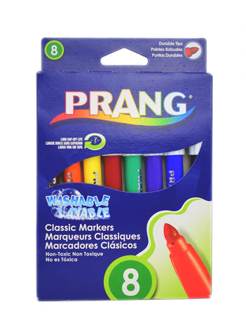 Prang Washable Markers, Non Toxic, Long Cap-Off Life, 8 Assorted Colors  Prang Markers