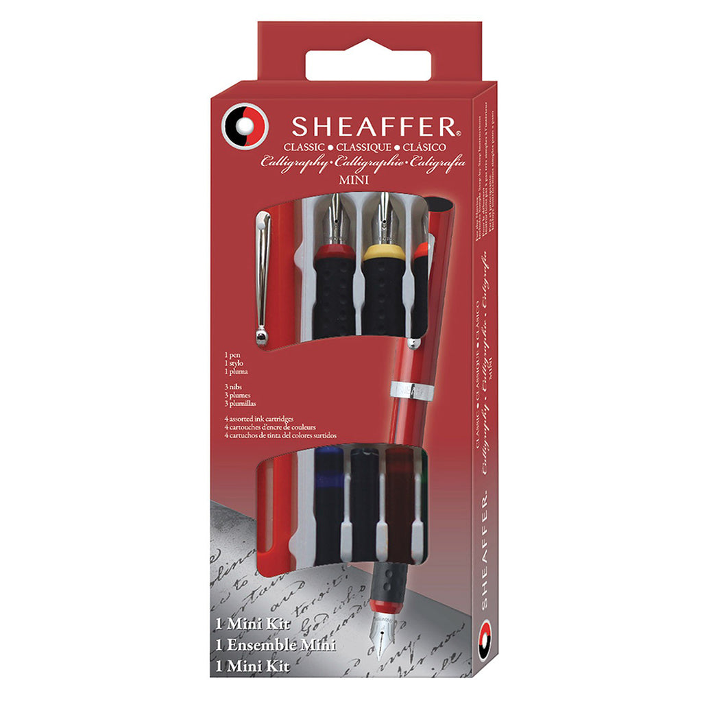 Sheaffer Calligraphy Pen Kit, 3 Nib Sizes , 4 Cartridges 73403 + How To Write Calligraphy Instructions  Sheaffer Calligraphy Pens