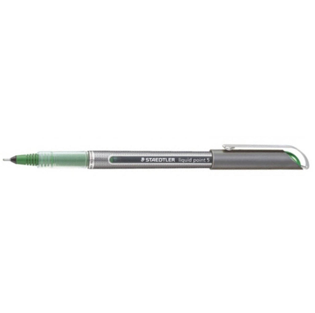 Staedtler Liquid Point 7 Green Rollerball Pen - PensAndPencils.Net