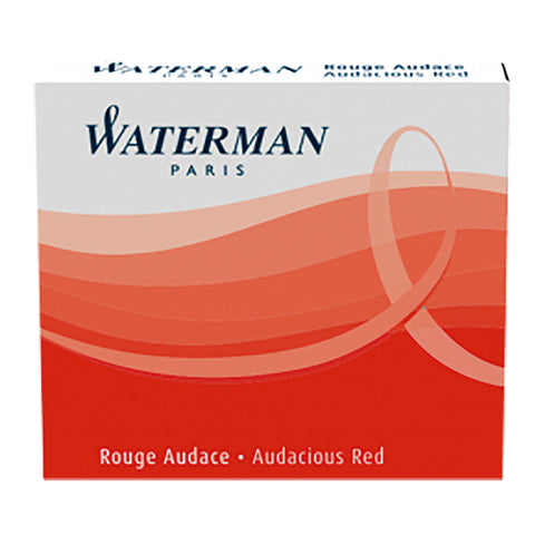 Waterman Fountain Pen International Cartridges Red Pack of 6  Waterman Fountain Pen Ink Cartridges
