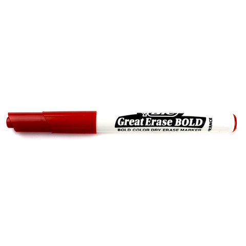 Bic Great Erase Bold Dry Erase Whiteboard Marker Red Fine Point  Bic Dry Erase Markers