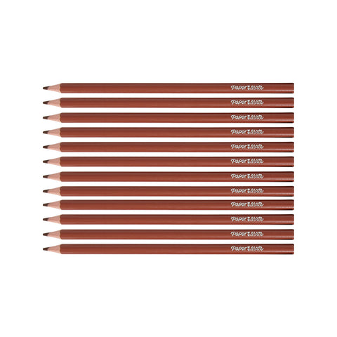 Paper Mate Colored Pencils Burnt Ochre Pack of 12 (Burnt Ochre)  Paper Mate Pencils