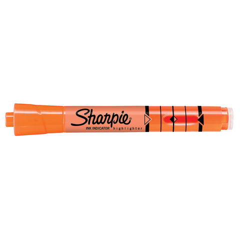 Sharpie Orange Highlighter Chisel Tip with Ink Indicator Tank