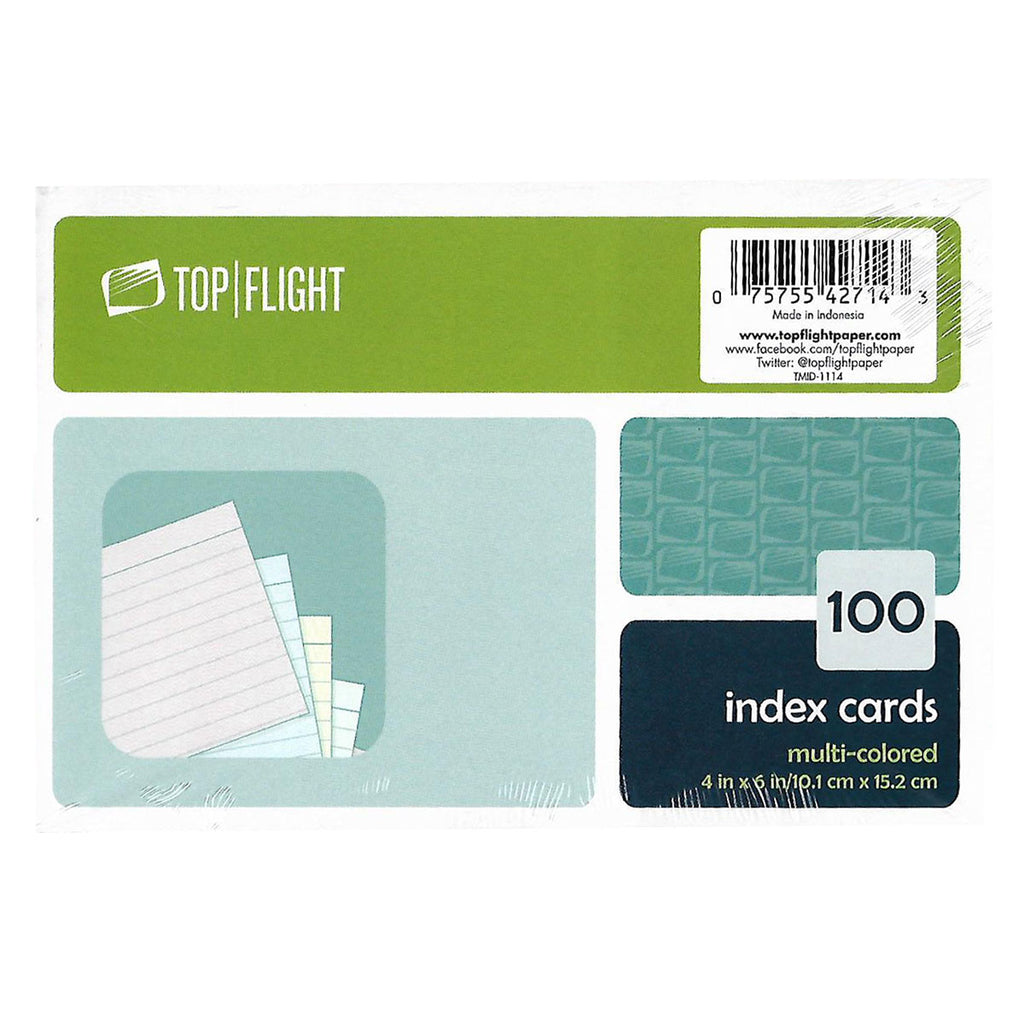 Multi Color Index Cards 4 x 6 Ruled, For Kids Pack of 100  Colored Index Cards Index Cards