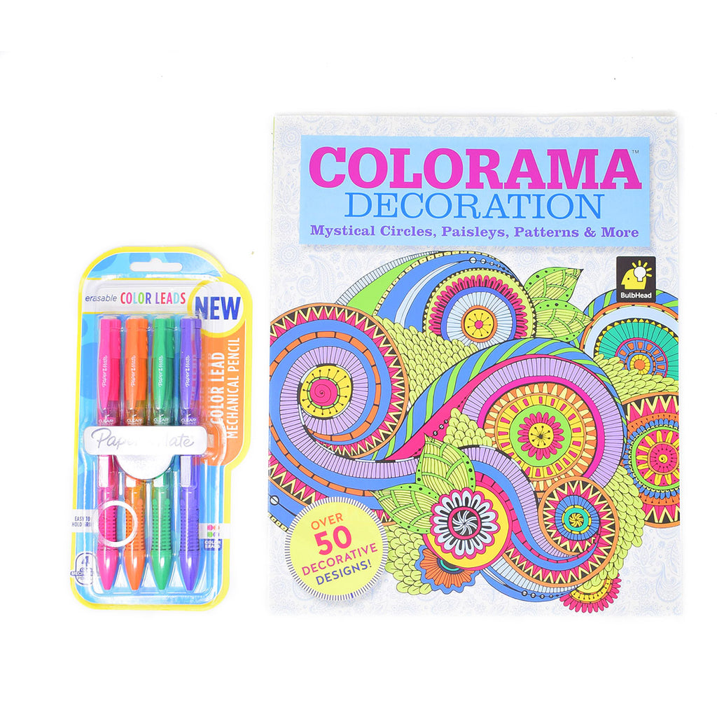 Colorama Adult Coloring Book with Pencils, Mystical Circles, Paisleys, Patterns, 50 Designs  Colorama Coloring Books